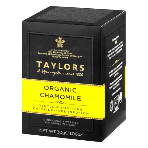 Taylors of Harrogate Yorkshire Organic Chamomile Tea Bags (Pack of 20) 30g