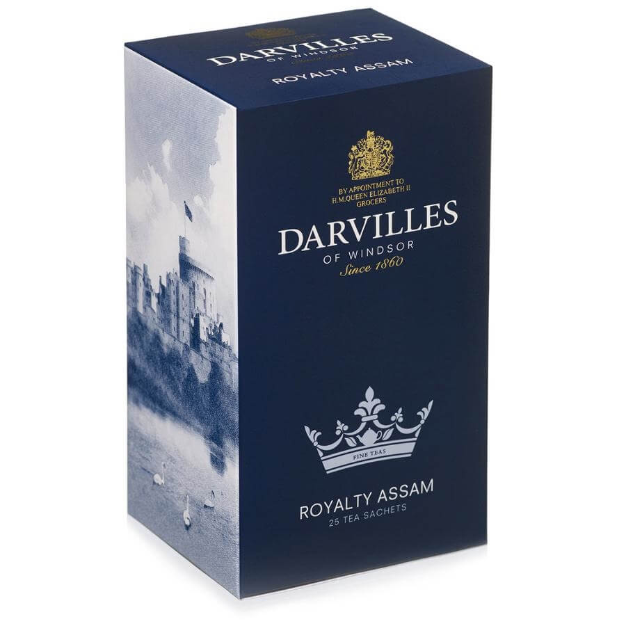 Darvilles of Windsor Tea - Royalty Assam Blend (Pack of 25 Tea Bags) 62.5g