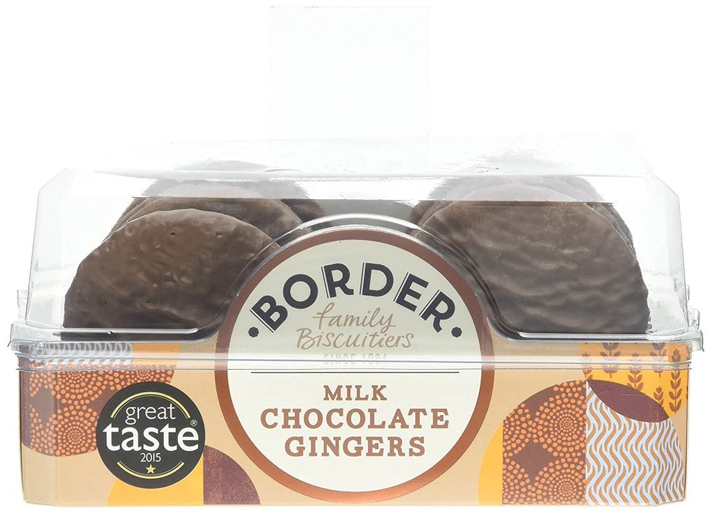 Border Milk Chocolate Gingers Biscuits 175g