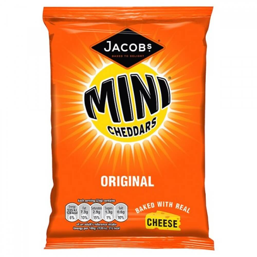 Jacobs Cheddars - Minis Original Cheese Flavor 50g