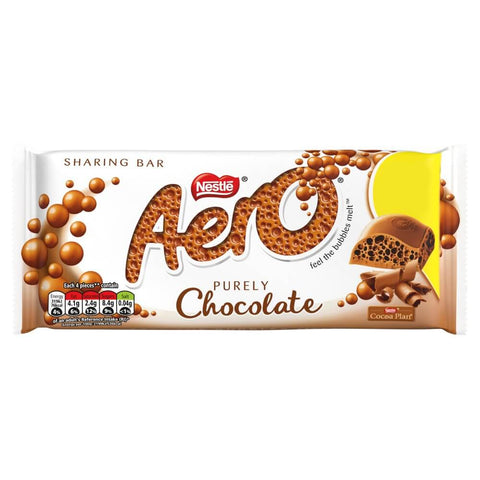 Nestle Aero Purley Chocolate Large Bar 100g