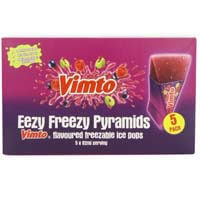 Vimto Original Freeze Pops - Eezy Freezy Pyramids (Pack of 5) 310ml