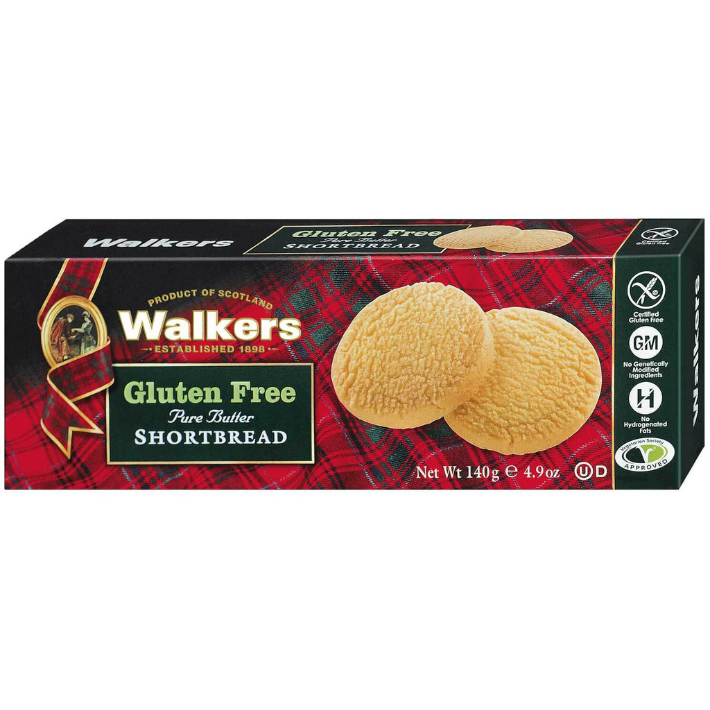Walkers Gluten Free Pure Butter Shortbread Rounds 140g