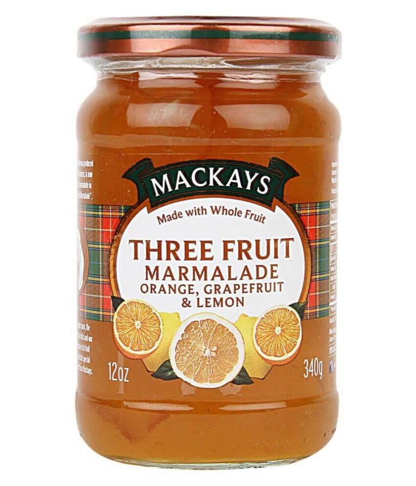 Mackays Marmalade - Three Fruit Marmalade (Grapefruit Lemon and Orange) 340g