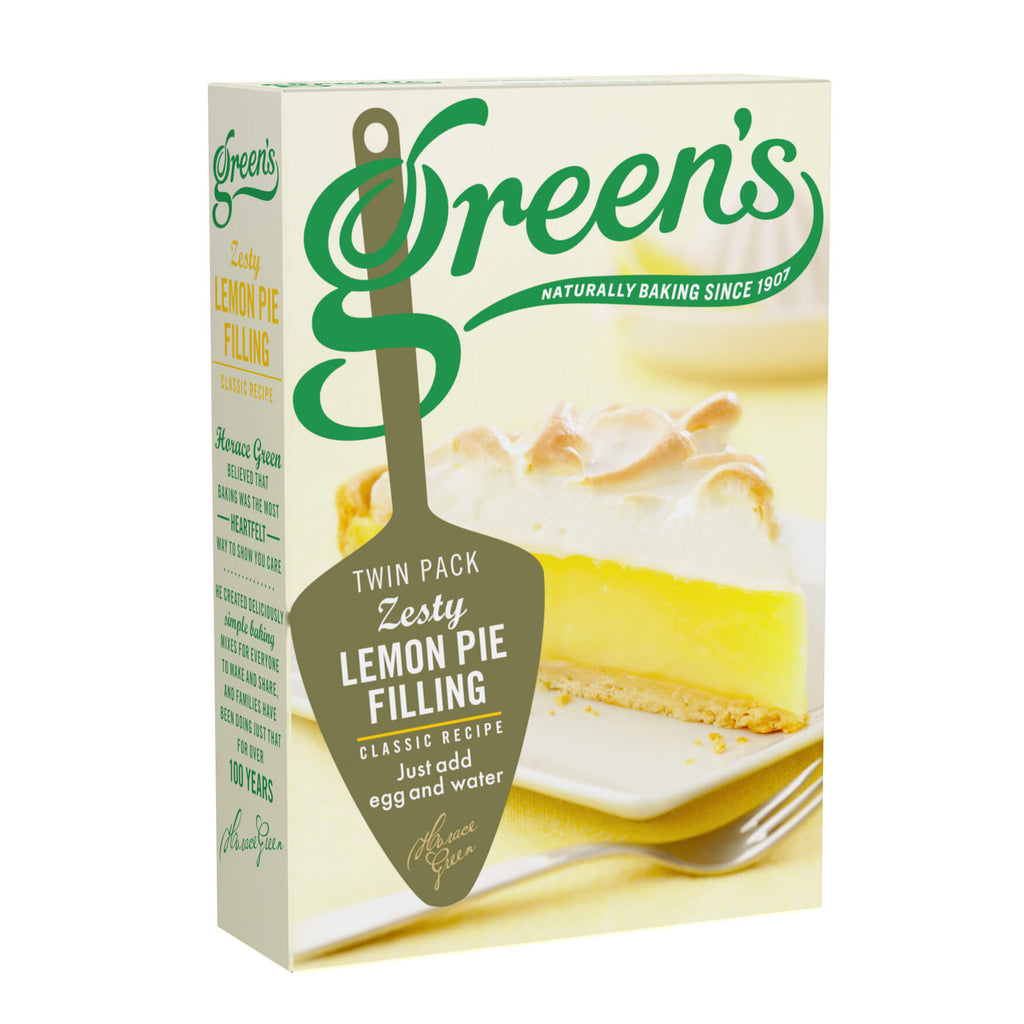 Greens Lemon Pie - Zesty Filling (Pack of 2 Sachets) 140g