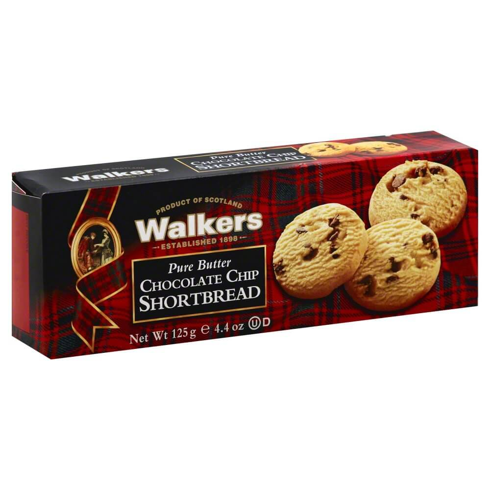 Walkers Gluten Free Pure Butter Chocolate Chip Shortbread 140g