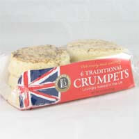 Lakeland Traditional Crumpets (Pack of 6) Lovingly Baked in the UK 276g