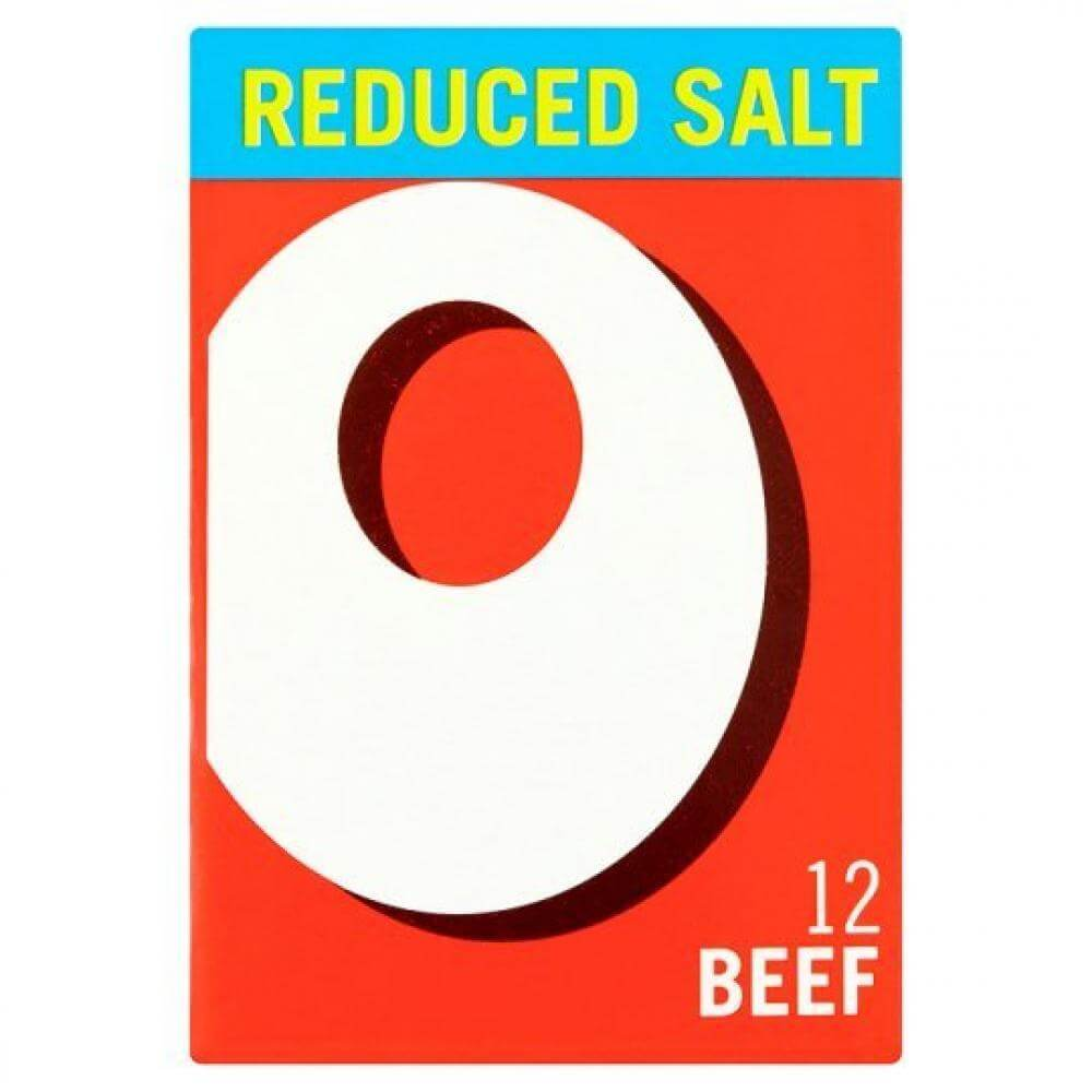 Oxo Stock Cubes - Reduced Salt Beef (Pack of 12 Cubes) (LIMIT 1 PER ORDER) 71g
