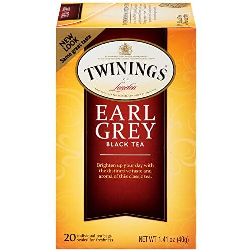 Twinings of London Earl Grey Black Tea Extra Bold (Pack of 20 Tea Bags) 40g