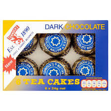 Tunnocks Dark Chocolate Tea Cakes (Pack of 6) 150g