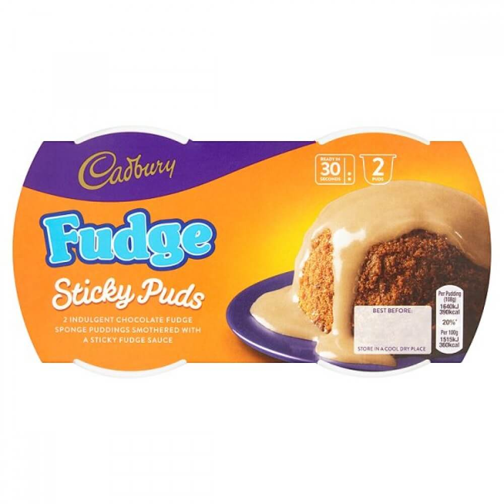 Cadbury Pudding - Sticky Fudge (Pack of 2) 190g