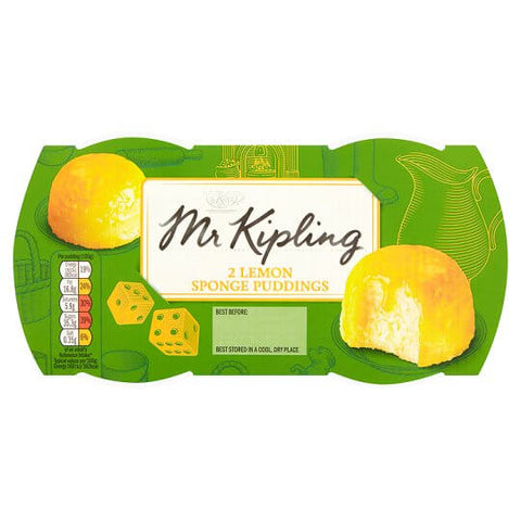 Mr Kipling Sponge Pudding - Lemon (Pack of 2 Puddings) 190g