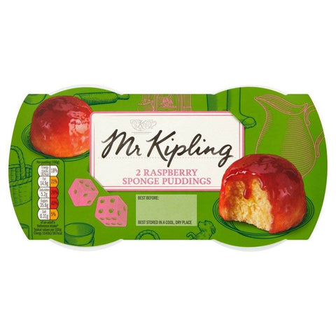 Mr Kipling Raspberry Sponge Pudding (Pack of 2) 190g