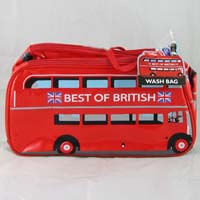 British Brands Wash Bag - London Bus  221g