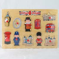 British Brands Puzzle - London Characters Wooden Puzzle 236g