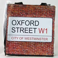 "British Brands Purse - Oxford Street City of Westminster Sign PVC Bag (8"" x 8"") 195g"