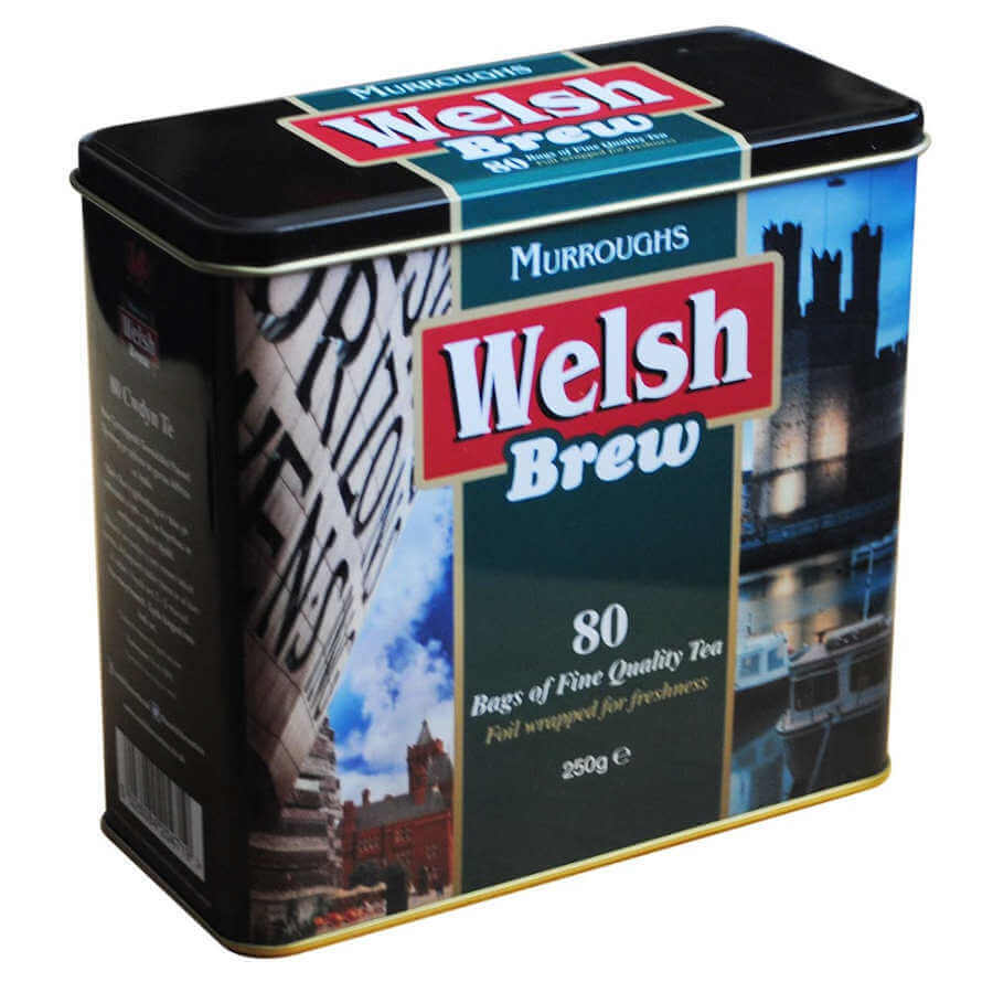 Murroughs Welsh Brew Caddy (Includes a Pack of 80 Teabags) 250g