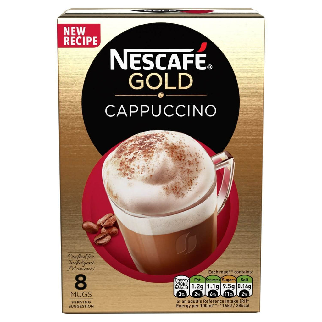 Nestle Nescafe - Gold Cappuccino Mix (Pack of 8 Sachets) 136g