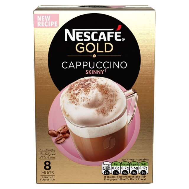Nestle Nescafe Gold Cappuccino Skinny Mix (Pack of 8) 116g