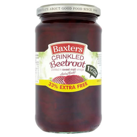 Baxters Beetroot - Crinkle Cut in Vinegar 455g