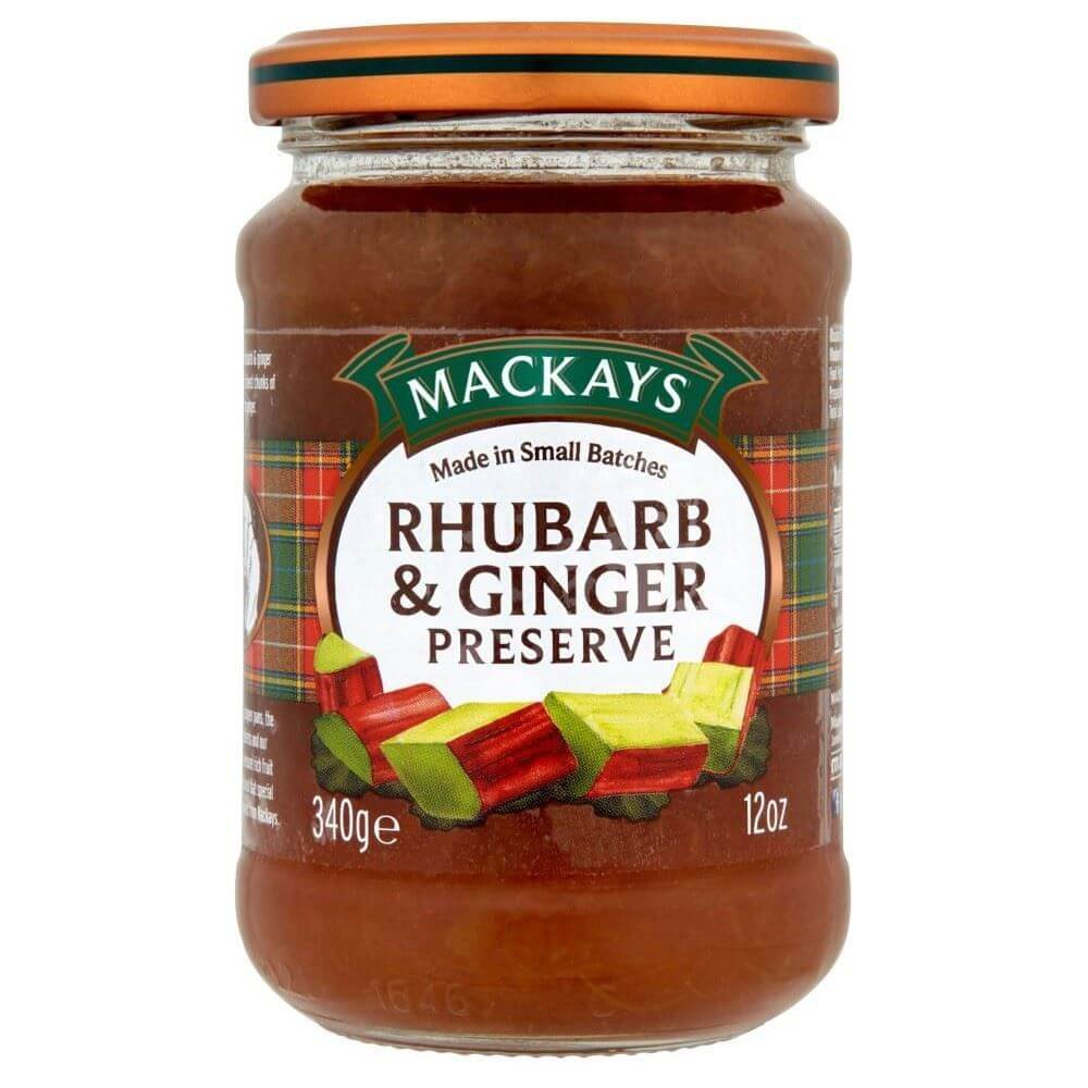 Mackays Preserve - Rhubarb and Ginger  340g