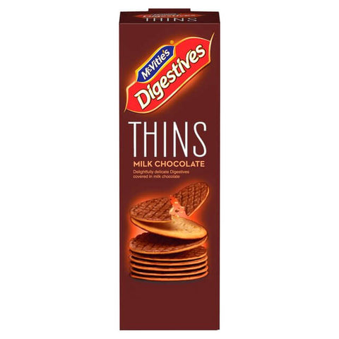 McVities Digestives - Thins Milk Chocolate 180g