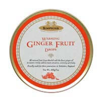 Simpkins Warming Ginger Fruit Drops 200g