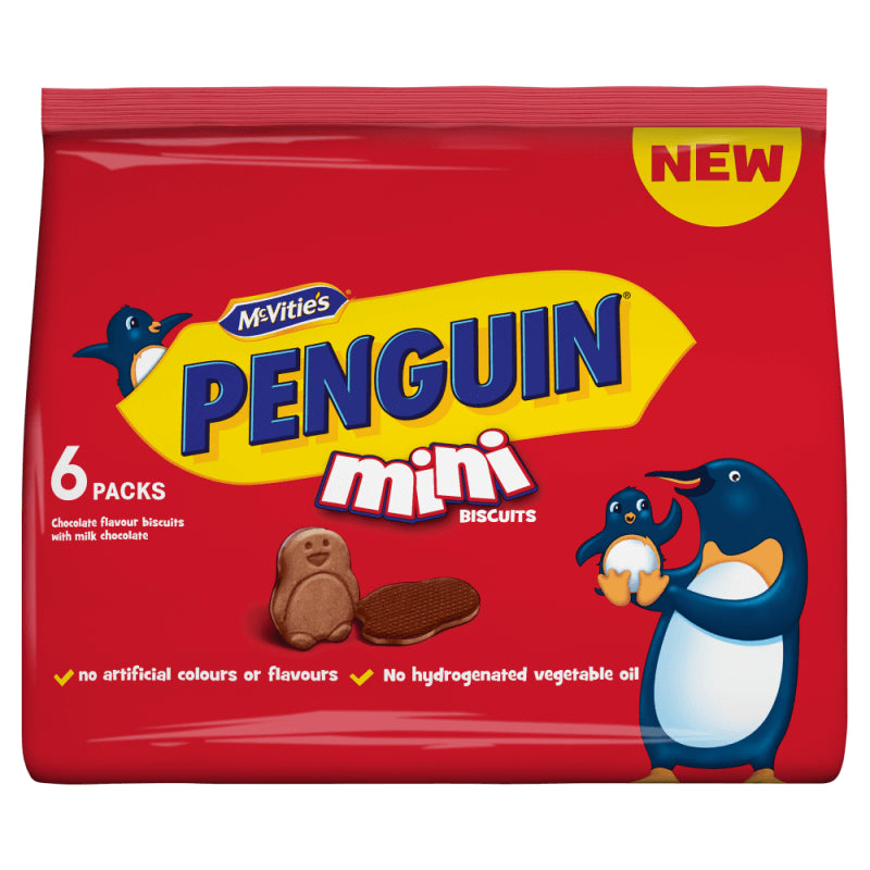 McVities Mini Penguin Bags (Pack of 6) 114g