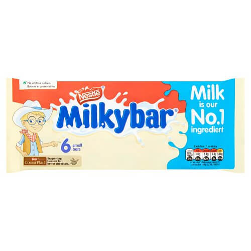 Nestle Milkybar (Pack of 6 Small Bars) 72g