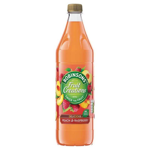 Robinsons Squash - Peach and Raspberry No Added Sugar 1L