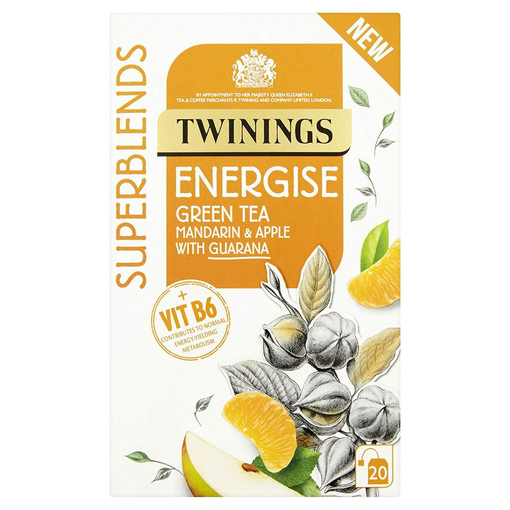 Twinings Superblends Energize Green Tea with Mandarin and Apple with Guarana 40g