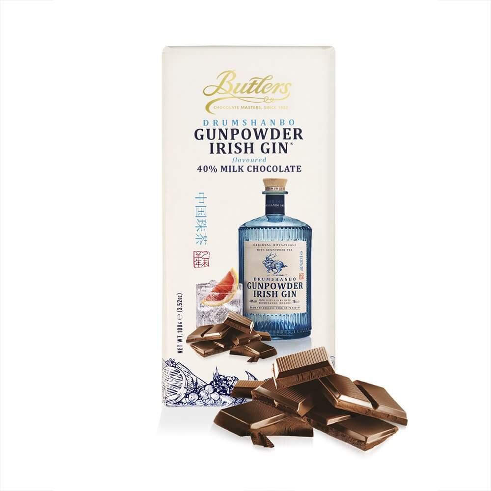Butlers Gunpowder Gin Milk Chocolate Bar 100g