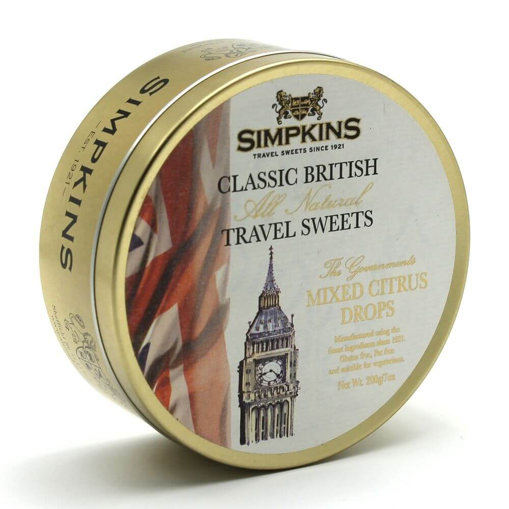 Simpkins The Governments Mixed Citrus Drops Travel Sweets 200g