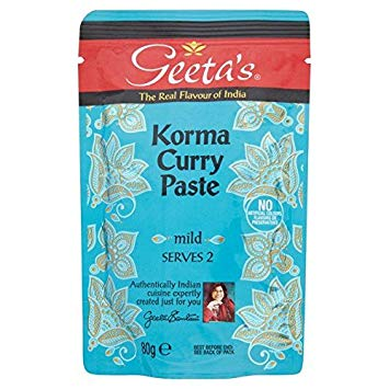 Geetas Curry Paste - Korma Pouch (Serves 2) 80g