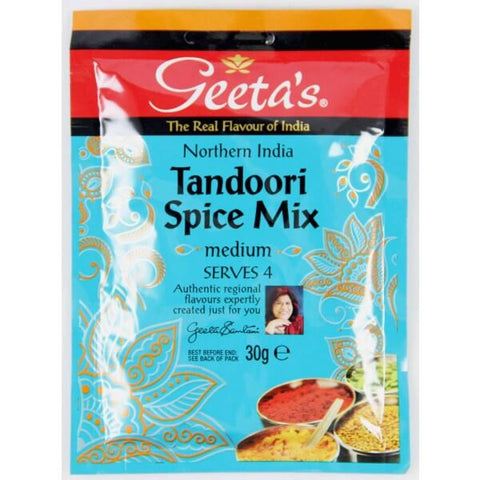 Geetas Spice Mix - Tandoori Medium Pouch (Serves 4) 30g