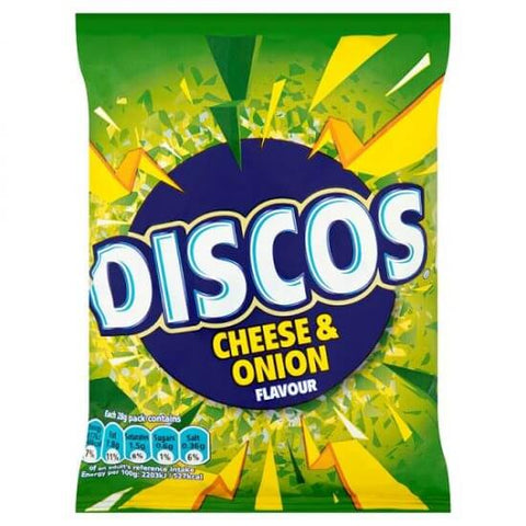 Discos Crisps - Cheese and Onion Flavour 25.5g