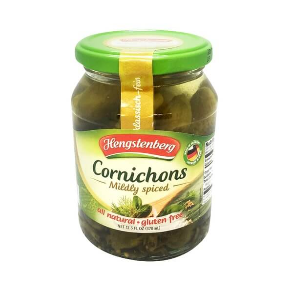 Hengstenberg Cornichons Mildly Spiced 370ml