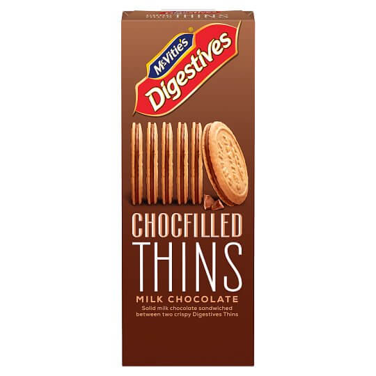 McVities Digestive - Thins Double Choc Filled  130g