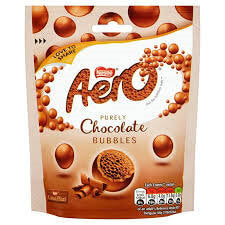 Nestle Aero Milk Chocolate Bubbles 102g