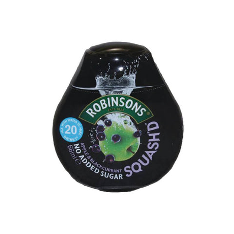 Robinsons Squashed Fruit Apple and Blackcurrant Squash No Added Sugar 66ml