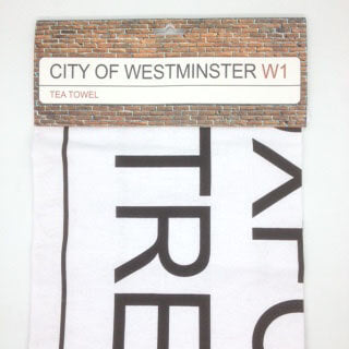British Brands Tea Towel - City of Westminster 100% Cotton 73g