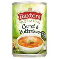 Baxters Soup - Vegetarian Carrot and Butter Bean 400g