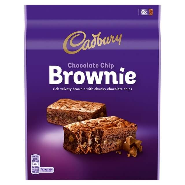 Cadbury Brownies - Chocolate Chip (Pack of 6 Bars) 150g