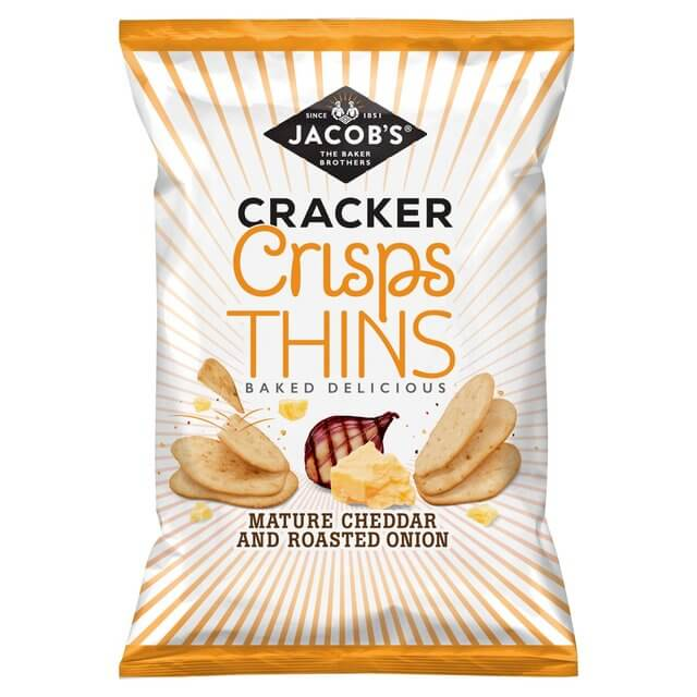 Jacobs Cracker Crisp Thins Mature Cheddar and Roasted Onion 130g
