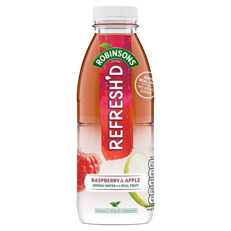 Robinsons Refreshed Raspberry and Apple Ready to Drink Bottle 500ml
