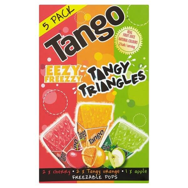Tango Freeze Pops - Eeezy Freezy Tasty Triangles (Item Contains 5 Pops) 310ml
