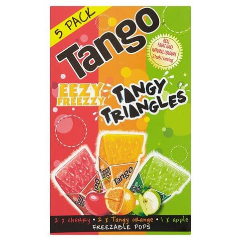 Tango Freeze Pops - Eezy Freezy Tasty Triangles (Item Contains 5 Pops) 310ml
