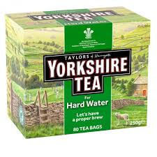 Yorkshire Tea - For Hard Water (Pack of 80 Teabags) 250g