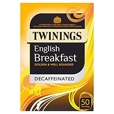Twinings Decaffeinated English Breakfast Tea (Item Contains 50 Tea Bags) 125g