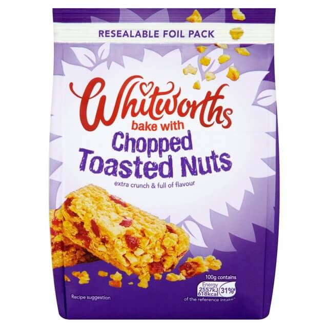 Whitworths Chopped Toasted Nuts 200g
